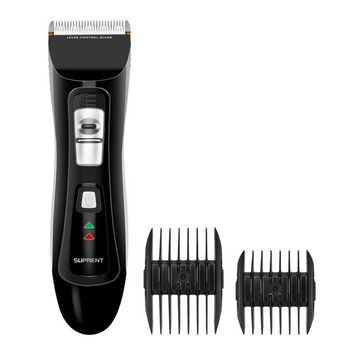 SUPRENT Pro Cordless Rechargeable Hair Clippers for Men, Hair Cutting Kit with 2000mAh Lithium Ion, Titanium Ceramic Blade, Hair Trimmer with Lock-In Length (Black)