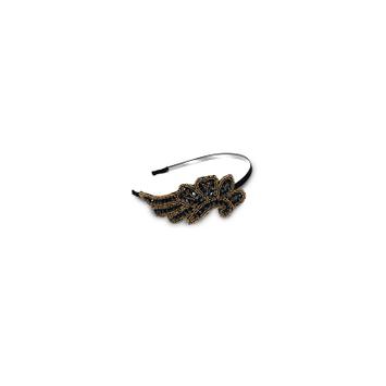 Expo Scroll and Leaf Beaded Headband