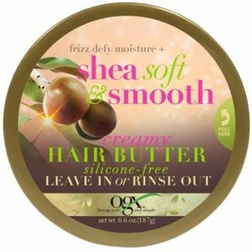 4 Pack - OGX Frizz Defy/Moisture + Shea Soft & Smooth Creamy Hair Butter 6.6 oz