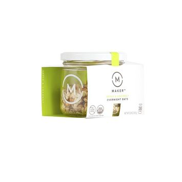 Maker Overnight Oats, Apple & Coconut, Organic, No Sugar Added, 2.29 oz Jar
