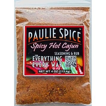 Paulie Spice : Cajun Seasoning & Rub : Spicy Hot Blend for: Steak, Meat, Chicken, Wings, Pork, Rice, Jambalaya, Gumbo, Fish, Soup, BBQ, Barbecue, Grill, Grilling, Smoker, Dry Rubs, Marinade, Spice Mix