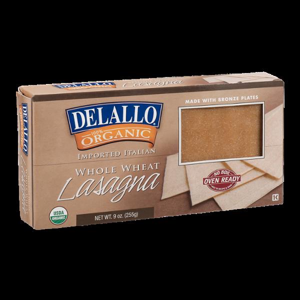 Delallo Organic Whole Wheat Pasta Lasagna
