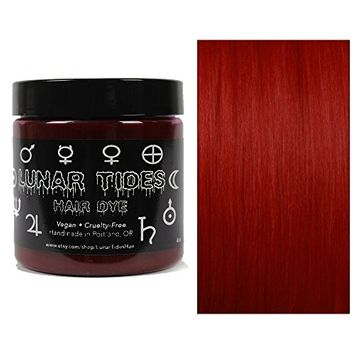 Lunar Tides Hair Dye - Blood Moon Dark Red Semi-Permanent Vegan Hair Color (4 fl oz/118 ml)