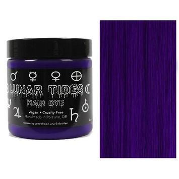 Lunar Tides Hair Dye - Nightshade Dark Purple Semi-Permanent Vegan Hair Color (4 fl oz/118 ml)