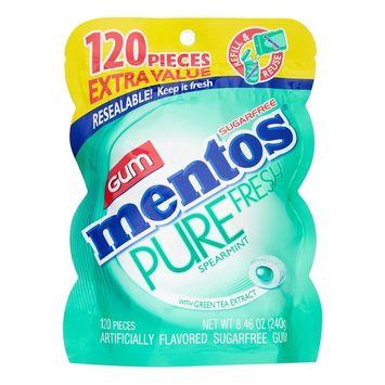 Mentos Pure Fresh Gum, Spearmint, 120 pc