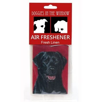 Doggies in the Window Black Labrador Air Freshener, Fresh Linen