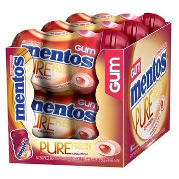 mentos Gum Mentos Pure Fresh Gum Cinnamon Curvy Bottle