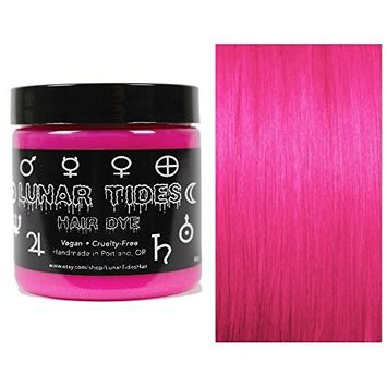 Lunar Tides Hair Dye - Lychee Hot Pink Semi-Permanent Vegan Hair Color (4 fl oz/118 ml)