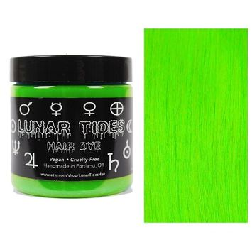 Lunar Tides Hair Dye - Aurora Lime Green Semi-Permanent Vegan Hair Color (4 fl oz/118 ml)