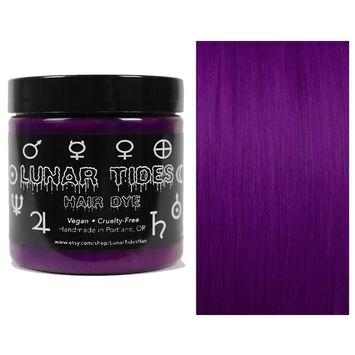 Lunar Tides Hair Dye - Plum Purple Semi-Permanent Vegan Hair Color (4 fl oz/118 ml)