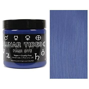 Lunar Tides Hair Dye - Smokey Navy Blue Grey Semi-Permanent Vegan Hair Color (4 fl oz/118 ml)