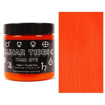 Lunar Tides Hair Dye - Siam Bright Orange Semi-Permanent Vegan Hair Color (4 fl oz/118 ml)