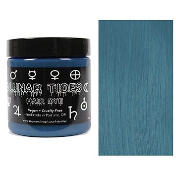 Lunar Tides Hair Dye - Smokey Teal Grey Semi-Permanent Vegan Hair Color (4 fl oz/118 ml)