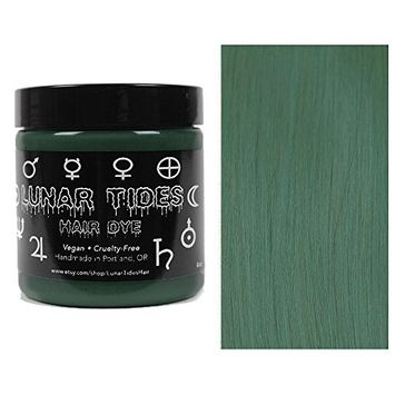 Lunar Tides Hair Dye - Smokey Grey Green Semi-Permanent Vegan Hair Color (4 fl oz/118 ml)