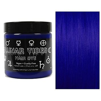 Lunar Tides Hair Dye - Blue Velvet Dark Blue Semi-Permanent Vegan Hair Color (4 fl oz/118 ml)