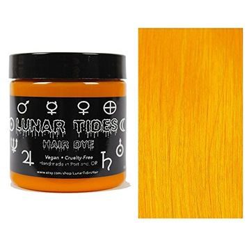 Lunar Tides Hair Dye - Fire Opal Orange Yellow Semi-Permanent Vegan Hair Color (4 fl oz/118 ml)
