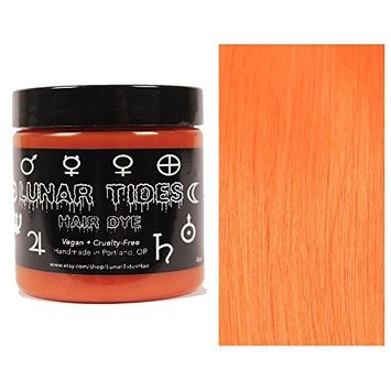 Lunar Tides Hair Dye - Solar Flare Orange Semi-Permanent Vegan Hair Color (4 fl oz/118 ml)
