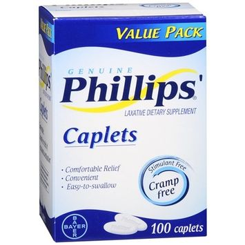 Phillips Laxative Dietary Supplement Caplets 100.0 ea