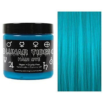 Lunar Tides Hair Dye - Cyan Sky Turquoise Semi-Permanent Vegan Hair Color (4 fl oz/118 ml)
