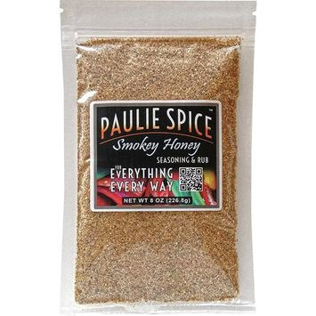 Paulie Spice : Sweet Smokey Honey BBQ Seasoning and Rub For: Steak, Ribs, Meat, Pork, Chicken, Wings, Salmon, Beef, Fish, Seafood, Grill, Barbecue, Smoked, Dry Rubs, Seasonings, Spices, Hickory, 8 oz