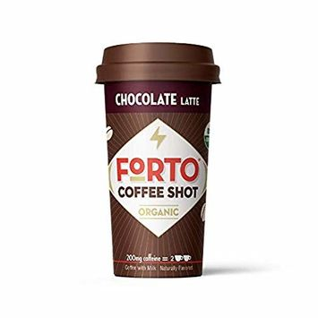 FORTO Coffee Shots - 200mg Caffeine, Chocolate Latte, Ready-to-Drink on the go, Organic Cold Brew Coffee Shot - Fast Coffee Energy Boost, 12 Pack