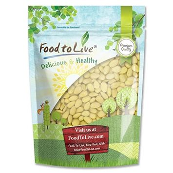 Food To Live ® ALMONDS (Whole, Blanched) (0.5 Pounds)