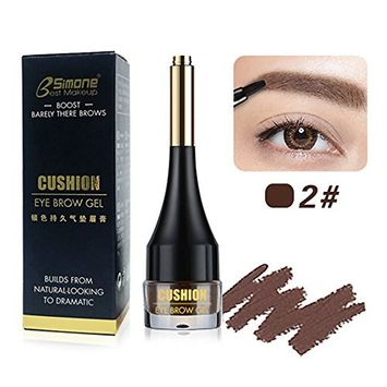 VANKER 4 Colors BSIMONE Air Cushion Makeup Eyebrow Gel Natural Waterproof Eyebrow Cream With Brush Sexy Charming-2#
