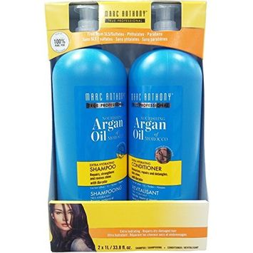 MARC ANTHONY Argan Oil of morocco extra hydrating Shampoo & Conditioner set, 2 x 1L