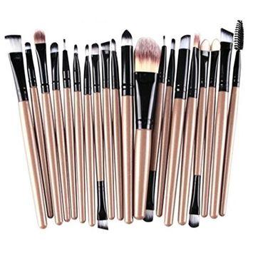 Euone 20 pcs/set Makeup Brush Set tools Make-up Toiletry Kit Wool Make Up Brush Set
