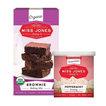 Miss Jones Baking Organic Brownie Mix with Peppermint Frosting