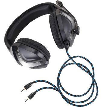 Accessory Power Enhance ENGXH40100BKEW Headset - Stereo - Black, Silver - Mini-phone - Wired - Over-the-head - Binaural - Circumaural - 6.25 ft Cable - Omni-directional Microphone