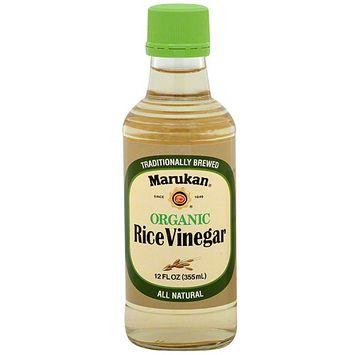 Marukan Organic Rice Vinegar, 12FO (Pack of 6)