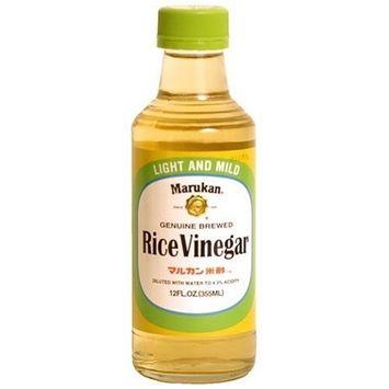 Marukan Genuine Brewed Rice Vinegar Light And Mild, 12-Ounce Bottle (Pack of 3)