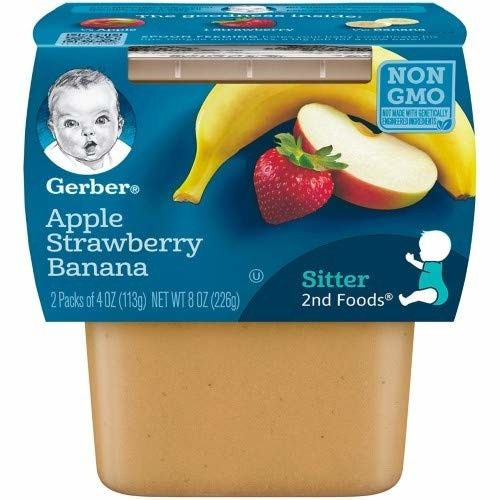 Gerber 2nd Foods Apple Strawberry Banana Baby Food