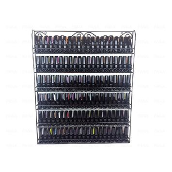 Pana Black Nail Polish Display Organizer Metal Wall Mounted Rack - Fit up to 100 Nail Polish Bottles - For Home Salon Business Spa etc.