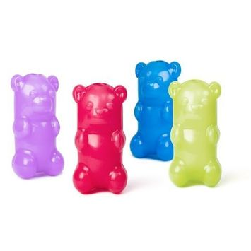Ruff Dawg Gummy Bear Rubber Dog Toy Assorted Neon Colors