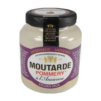 Pommery Mustard Meaux Moutarde in Pottery Crock with Figs