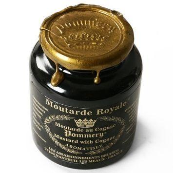 Moutarde de Meaux Royale Pommery Crock with Cognac (8.8 ounce)
