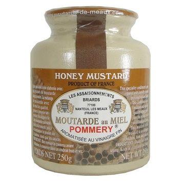 Pommery Honey Mustard from Meaux in Stone Jar 250 gr