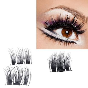 Ultra-thin Magnetic Eye Lashes 3D Reusable False Magnet Eyelashes (0.4MM, A)
