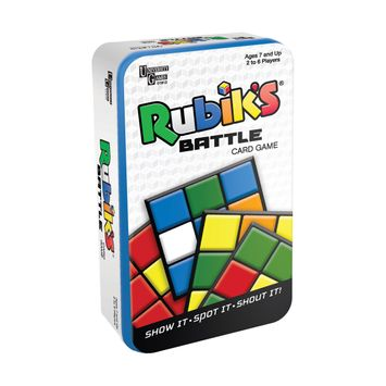 University Games Rubik's Battle Card Game Tin