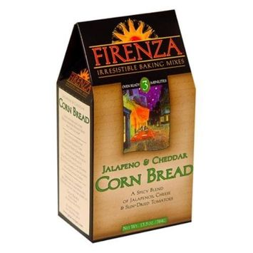 Firenza Jalapeno Cheese Corn Bread Mix, 13.3 Ounce (Pack of 6)