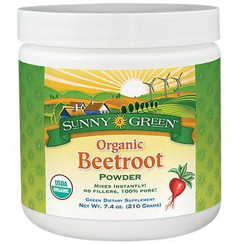 Beetroot Powder Organic -Unflavored Sunny Green 7.4 oz Powder