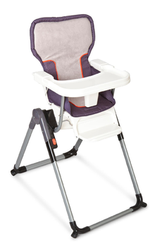 Simmons Urban Edge Flat Fold High Chair - Charcoal