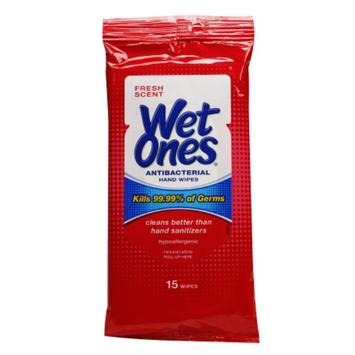 Wet Ones Antibacterial Hands Wipes Fresh