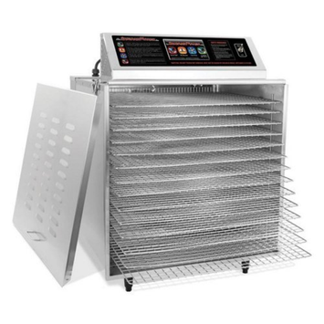 TSM Products TSM 32628 14 Tray Digital Touch Screen Insulated Food Dehydrator with Chrome Shelves