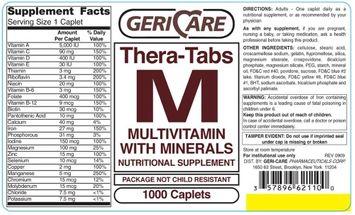 Mckesson Brand Gericare Theratabs M Multivitamin Supplement with Minerals Caplets