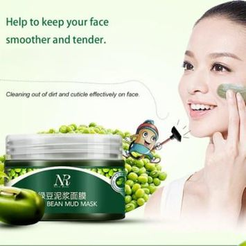 Nico Rose Green Bean Mud Cleansing Natural Essence Shrink Pores Facial Mask