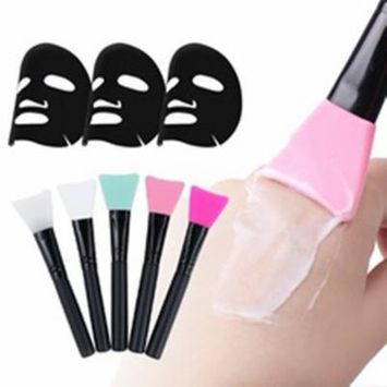 Professional Lightweigt Silicone Face Mask Mixing Brush Easy to Clean Skin Care Facial Beauty Makeup Brush Tools
