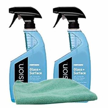 Mothers Revision Glass & Surface Cleaner (24 oz) Bundle with Microfiber Cloth (3 Items)